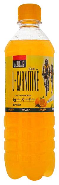 Спортивный напиток ATHLETIC NUTRITION L-карнитин слабогазированный 500 мл