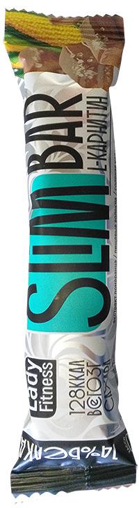 Протеиновый батончик Slim Bar LadyFitness с L-карнитином 35 грамм