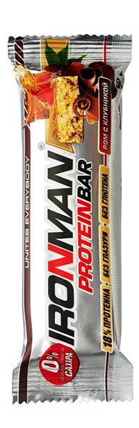 Протеиновый батончик Protein Bar IRONMAN без сахара, без глазури, без глютена 50 грамм