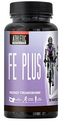 Купить Fe Plus ATHLETIC NUTRITION 72 капсулы