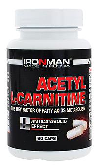 Сжигатель жира Ацетил L-карнитин IRONMAN 60 капсул
