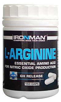 Аминокислота L-Аргинин IRONMAN 150 капсул