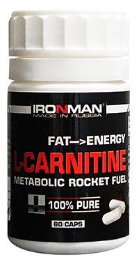 Сжигатель жира L-карнитин IRONMAN 60 капсул