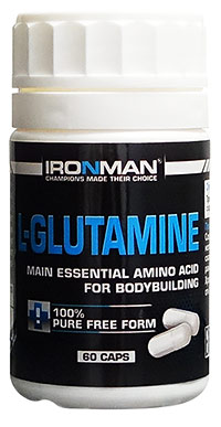 Аминокислота L-глютамин IRONMAN 60 капсул