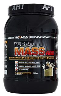 Гейнер Турбо Масс без лактозы IRONMAN 1,4 кг