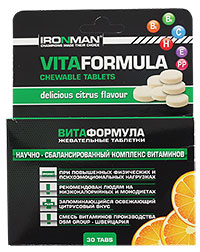Вита Формула IRONMAN 30 жевательных таблеток