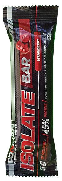 Протеиновый батончик для похудения Isolate Bar IRONMAN 50 грамм
