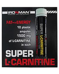 Сжигатель жира Супер L-карнитин 1500 IRONMAN 10 флаконов по 25 мл