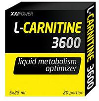 Сжигатель жира L-Carnitin 3600 XXI Power 5 флаконов по 25 мл