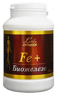 Препарат железа Fe+ LadyFitness 72 капсулы