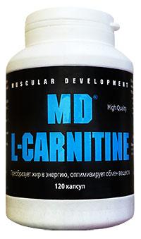 Сжигатель жира MD L-carnitine 120 капсул