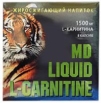 Сжигатель жира L-carnitine Liquid 1500 MD 10 флаконов по 25 мл