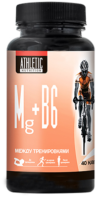 Купить Mg+B6 Athletic Nutrition 40 капсул