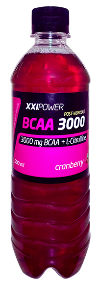 Спортивный напиток BCAA XXI Power слабогазированный 500 мл - Клюква