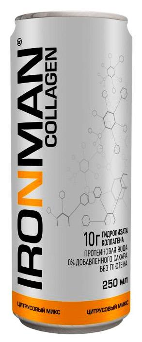 Спортивный напиток IRONMAN COLLAGEN без газа 250 мл