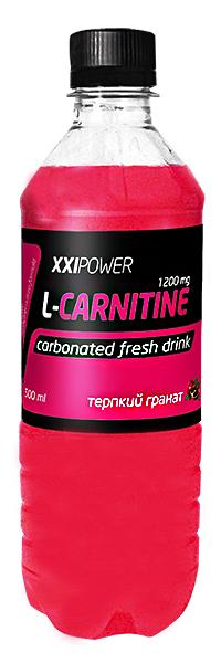 Спортивный напиток L-карнитин XXI Power слабогазированный - Терпкий гранат, 500 мл