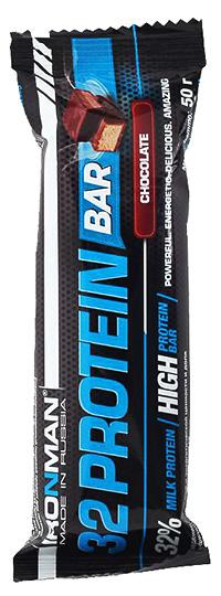 Протеиновый батончик 32 Protein Bar IRONMAN 50 грамм