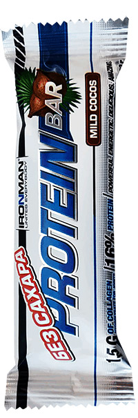 Протеиновый батончик Protein Bar IRONMAN с коллагеном без сахара 50 грамм