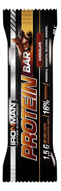 Протеиновый батончик Protein Bar IRONMAN с коллагеном 50 грамм