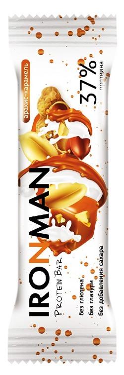 Высокопротеиновый батончик Protein Bar IRONMAN без сахара, без глазури 50 грамм