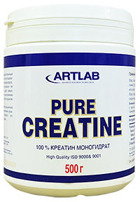 Креатин моногидрат Pure Creatine Artlab 500 грамм