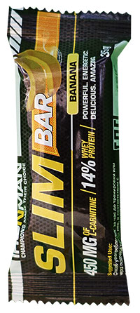 Протеиновый батончик Slim Bar IRONMAN с L-карнитином 35 грамм