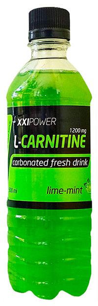 Спортивный напиток L-карнитин XXI Power слабогазированный 500 мл - Лайм-Мята