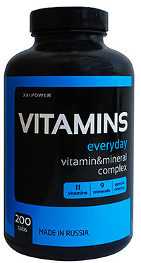 Витамины XXI Power 200 таблеток